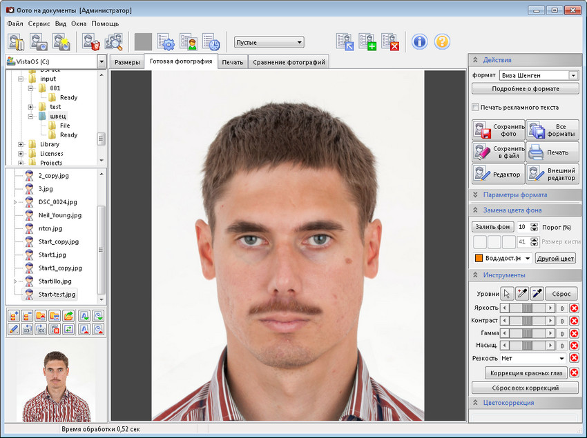 Программа Фото на документы (photolab): http://www.colorriver.com/photolab.php